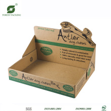 Boîte d'affichage en carton Kraft