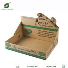 Caixa de exibição de papelão Kraft