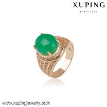 14588 xuping joyería 18k oro moda nueva diseños anillo de dedo regalo para dama
