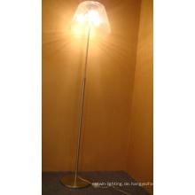 Hochwertige Glas Stehlampe Satin Nickel Chinesische Günstige Stehlampe