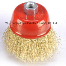 Cup Brushes-Crimped Wire of 3′′ for Shoe Industry