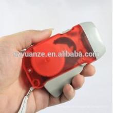 3 führte Hand-Presse-Dynamo-Taschenlampe, wirklich Ladegerät Taschenlampe