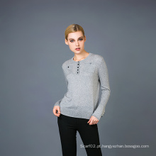 Lady's Cashmere Blend Fashion Sweater 17brpv058