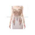 Nach Maß reizvolles Mädchen-formales Partei-Kleid langhülse Schatz Gold gesticktes Nixe-langes Abend-Kleid 2017
