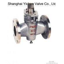 Vanne à boisseau sphérique de douille de PTFE ANSI A216 Wcb (ZX43)