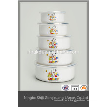 disposable enamel salad bowl mixing with lid