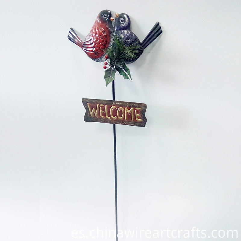 Welcome Sign Metal Garden Stake