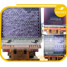 Damasco del embalaje del rollo del poliéster de África teñido para la tela Koshibo del vestido de seda del partido