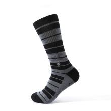 Super elastic jacquard tube compression socks with stripes
