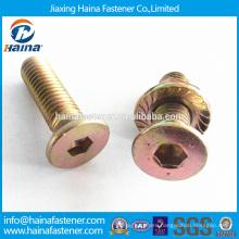 flat head countersunk bolts/countersunk hex socket bolt/Color Zinc-plated hex Countersunk Head Socket Bolt,Flat Head Bolt