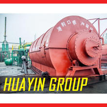 HUAYIN BRAND recycling used tyre/plastic pyrolysis plant