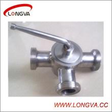 Válvula de enchufe roscada de acero inoxidable sanitario