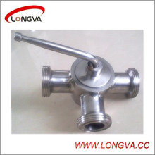 Válvula de tomada rosqueada de aço inoxidável sanitária