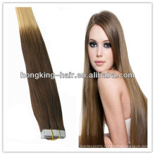 New design high quality tow tone remy brazilian cheap human hair weft