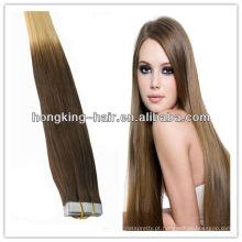 Novo design de alta qualidade tow tone remy brasileiro barato trama do cabelo humano