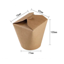 Disposable eco friendly kraft paper chicken fast food takeaway packaging noodle box