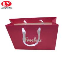 Dark prink paper gift bag printed service