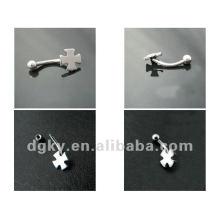 Piercing de orelha de aço inoxidável 316L