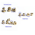 7mm Head Button Stud ScrewBack Studs