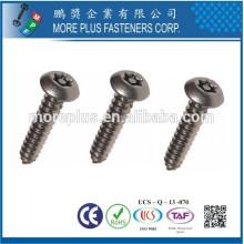 Made in Taiwan Carbon Stahl verzinkt Torx Drive Pan Kopf Selbstschneiden Schrauben