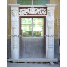 Stone Marble Granite Arch Door Surround for Doorway Archway (DR029)