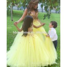 Aliexpress heißer Verkauf Stock Länge durchschauen Baby Mädchen Hochzeitskleid