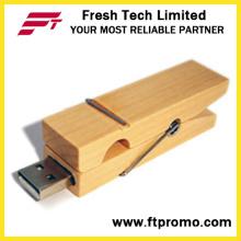 OEM de la empresa de regalo de bambú Clip USB Flash Drive (D823)