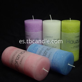 promotional paraffin wax scented pillar candles for decoration
