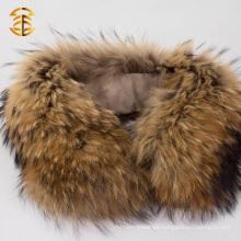 Natural auténtico cuello de cuello de mapache cuello de ajuste para la chaqueta