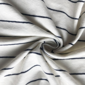 linen viscose rayon stripe spandex knitting fabric
