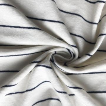 linen viscose rayon stripe spandex knitting fabric