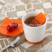 Service à thé avec sac en silicone