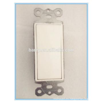 Interruptor de un solo polo, 15 A, blanco