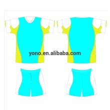 personalizado su propio logotipo de la impresión de la sublimación del jersey de fútbol y el kit de fútbol del precio barato de la alta calidad del uniforme del fútbol del número