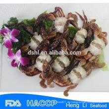 Gefrorene schwarze Krabbe, gefrorene Krabbe, Steinkrebs, Krabbe Ganze Runde