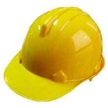 Casque de protection PE T Type (jaune).
