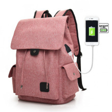 New USB Charging Men and Women Outdoor Leisure Canvas Big Travel Backpack Fashion Backpack Student School Bag Laptop Bag