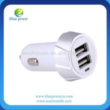 Universal Twin Dupla Porta 2 USB 12V Em Car Socket Lighter Charger Adapter