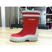Size 28 Red Kids / Children Fishing Rain Boots Warm Cotton Lining
