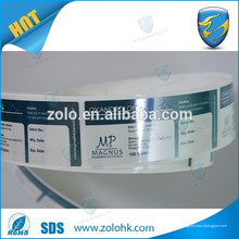 Garantie amovible vide si étiquette cassée et étiquette de sécurité