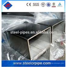 Schwarzes Quadrat, rechteckiges, rundes Stahlrohr Stahlrohr