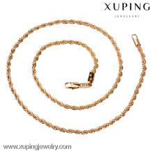 La joyería al por mayor del oro 18k de China, forma el collar largo de la cadena del oro diseña, cadena del oro del collar de los hombres