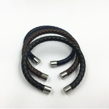 Custom Real Leather Cuff Vintage Engraved Leather Bracelets
