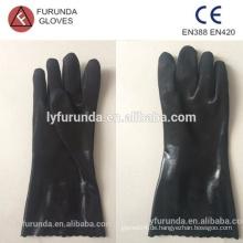Industrielle PVC-Handschuhe, doppelt getaucht, sandige Oberfläche