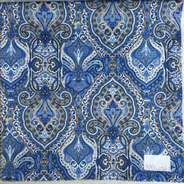 Indian Tapestry Blue/Brown Printed Lining