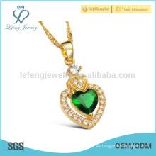 18k oro y plata cadenas pendientes, collar de cadena de oro para wome