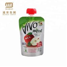 embalagem de alimentos líquidos de alto padrão boa aparência com bico