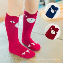 Bebê crianças crianças algodão 3d animal cabeça meia meias (ka033)