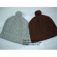 Ensemble chapeau écharpe en cachemire Chunky