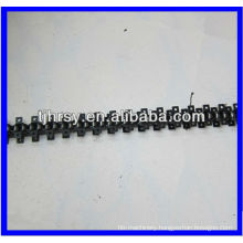 Transmission roller chain with attachments